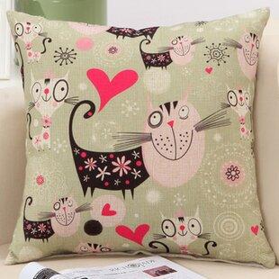 Cat Family Decorative Nursery Pillow