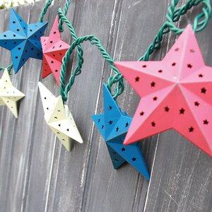 10-Light 7.5 ft. Star String Lights