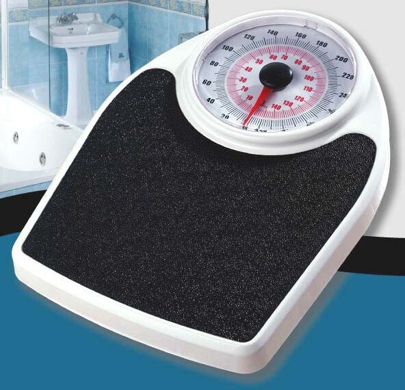 Trimmer Mechanical Bathroom Scale With Extra Large