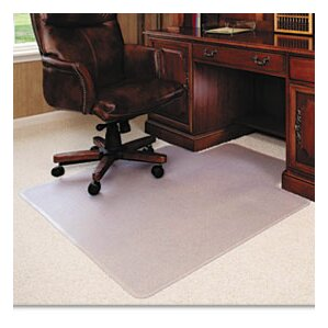 classic execumat high pile carpet beveled chair mat - Office Chair Mat