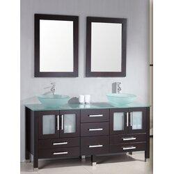"""Bathroom Vanity Sets cambridge plumbing emerald 64"""" double bathroom vanity set with"""