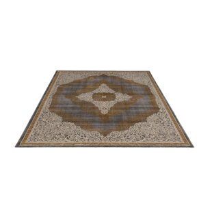 Kellie Tufted Brown/Cream Rug by World Menagerie