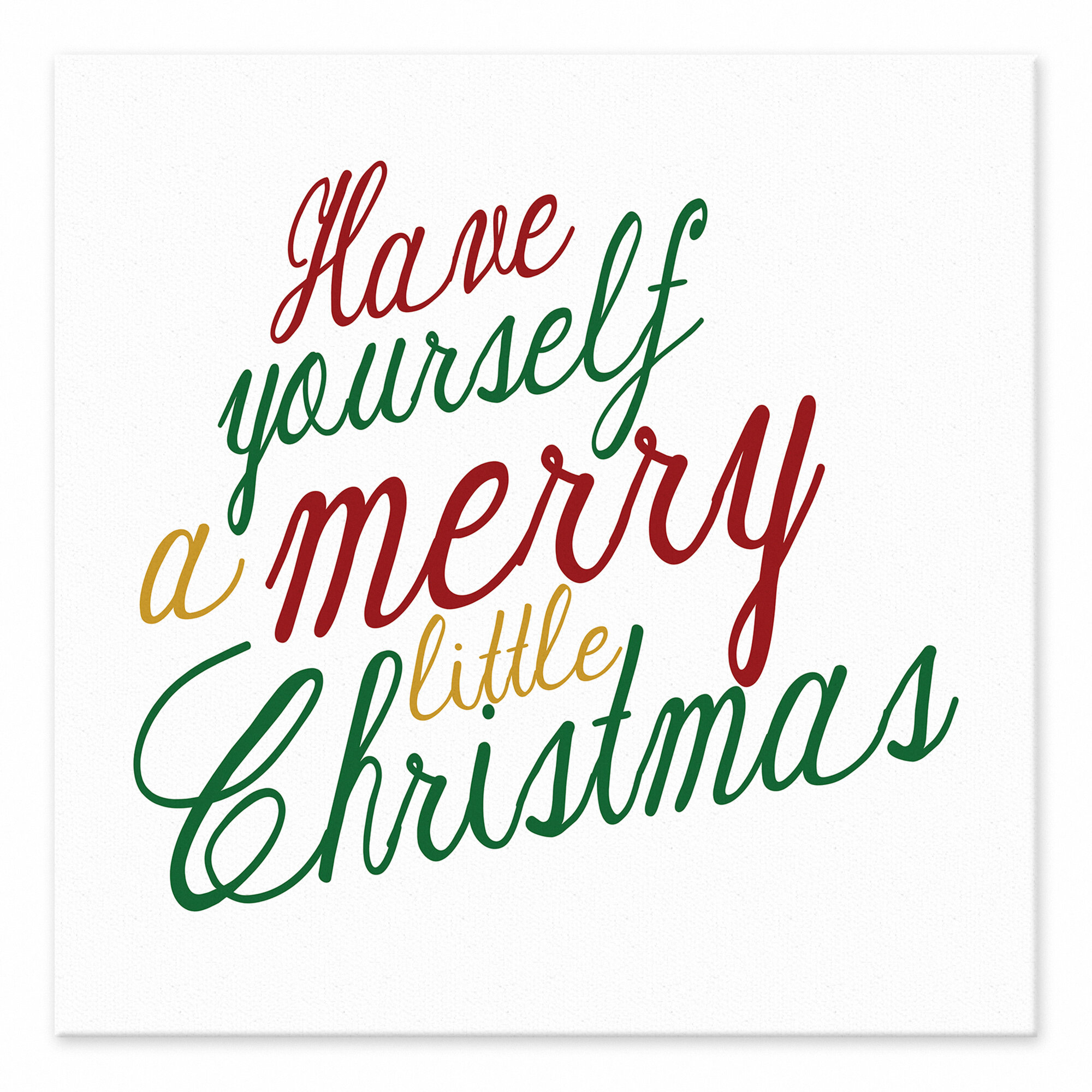 Jaxn \'Have Yourself a Merry Little Christmas\' Textual Art on Canvas ...