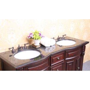 61″ Double Bathroom Vanity Top