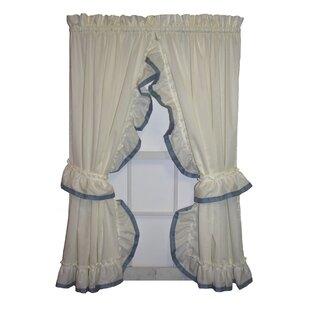 Howells Banded Edge Ruffled Priscilla Curtain Panels Pair