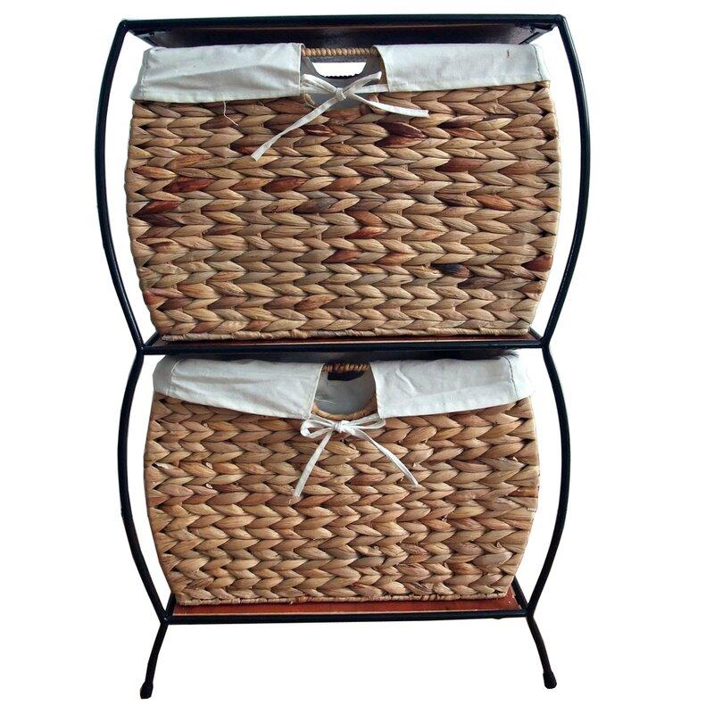 default_name - Pangaea Seagrass Basket Storage Pangaea Rattan 2 Drawer File