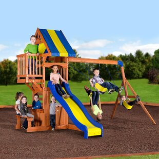 84ed9815f32 Peninsula All Cedar Swing Set. by Backyard Discovery