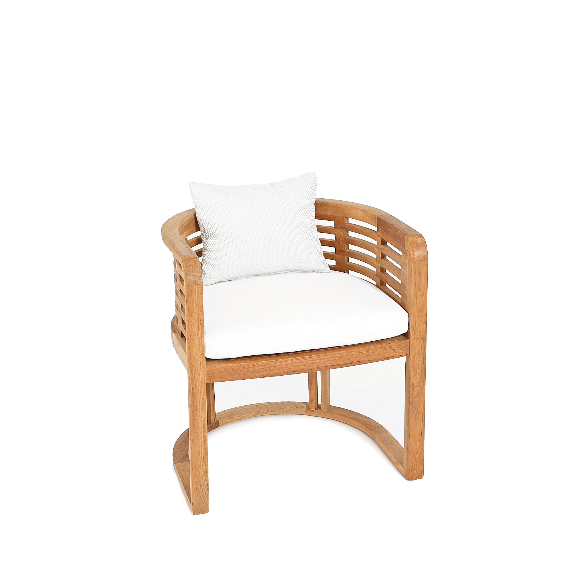 OASIQ Hamilton Teak Patio Dining Chair With Cushion | Wayfair