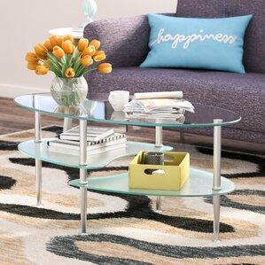 Efraim Glass Oval Coffee Table by Zipcode De..