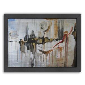 paris window framed painting print - Distressed Window Frame