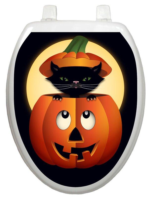 Seasonal Peek-A-Boo Kitty Toilet Seat Decal