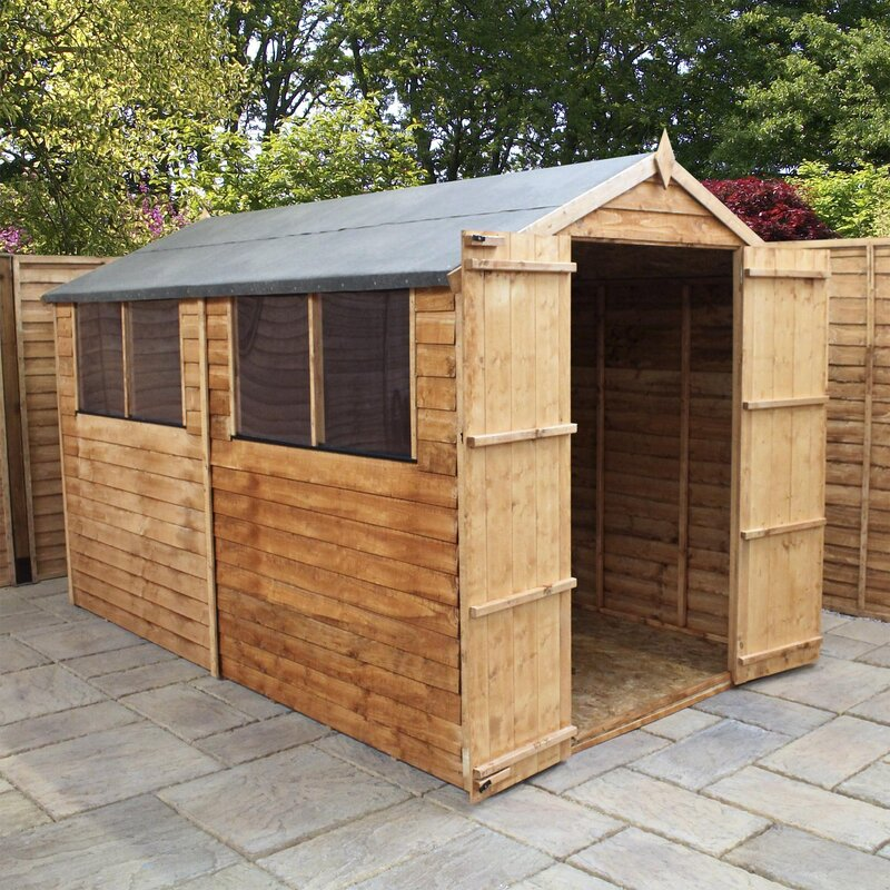 6 x 10 wooden overlap apex storage shed