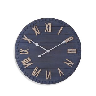 Navy Blue Wall Clock Wayfair