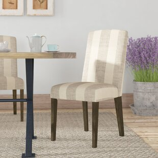 Siems Back Parsons Upholstered Dining Chair (Set of 2)