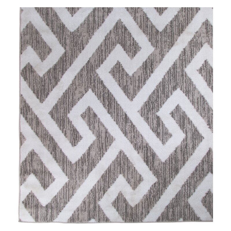 Hector Gray White Area Rug