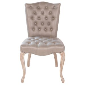 Victoria Genuine Leather Upholstered Dining Chair by Joseph Allen