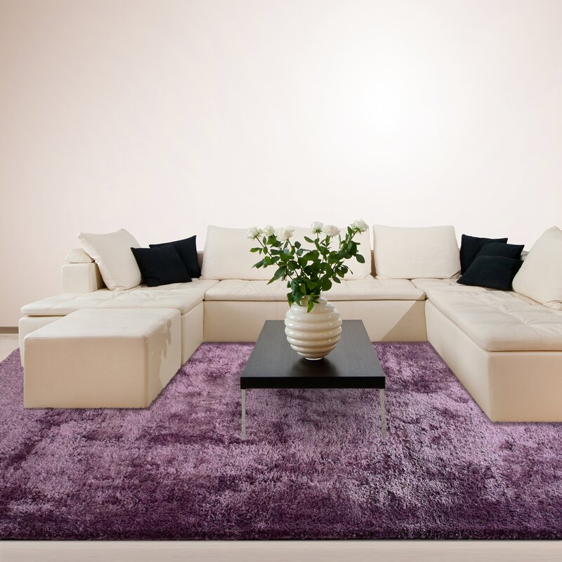 Imagine Rugs Fur Purple Area Rug & Reviews