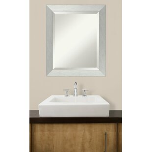 Wood Frame Bathroom Wall Mirror