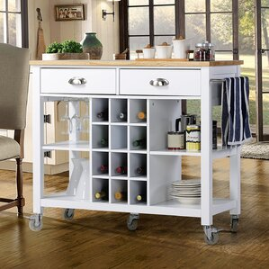 Joslyn Kitchen Island with Natural Rubber..