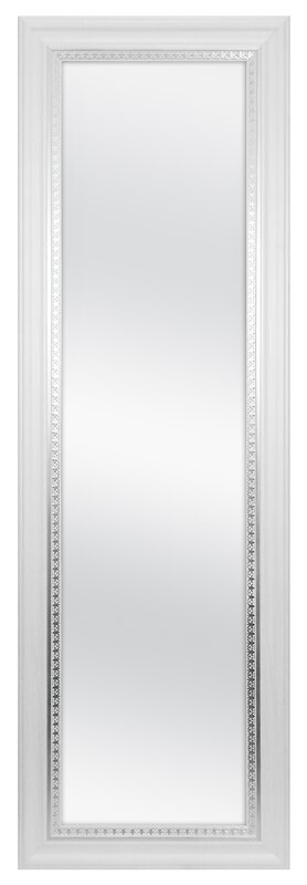 Farmhouse Over Door Woodgrain Full Length Wall Mirror
