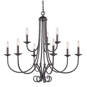 Holloway 9-Light Candle-Style Chandelier