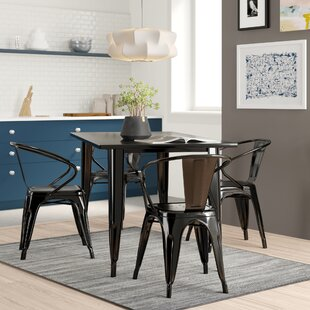 Dimitri Rectangular Metal 5 Piece Dining Set
