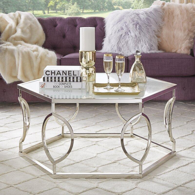 Willa Arlo Interiors Olander Round Coffee Table & Reviews   Wayfair