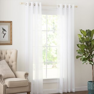 Solid Sheer Grommet Single Curtain Panel