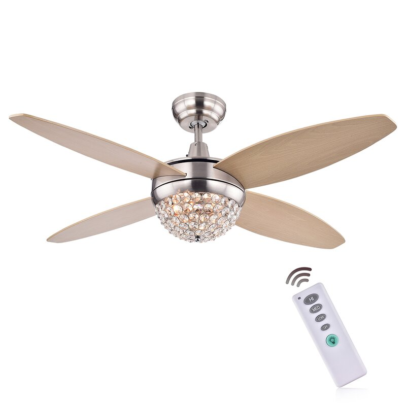 ceiling fan 4 blades. balavis wood crystal 4 blade ceiling fan blades