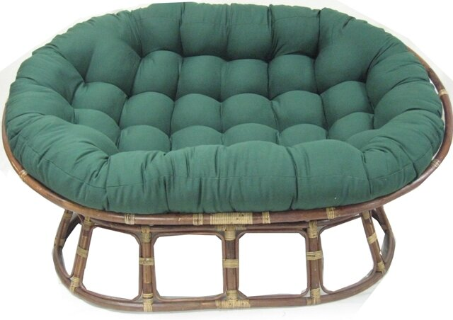 Blazing Needles Oversize Double Papasan Chair Cushion Reviews Wayfair