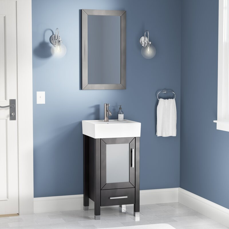 Ivy Bronx Govea 18 Single Sink Bathroom Vanity Set With Mirror