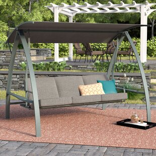 Marquette 3 Seat Daybed Porch Swing With Stand