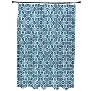 Teal And Coral Shower Curtain