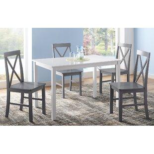 Rarick 5 Piece Solid Wood Dining Set (Set of 5)