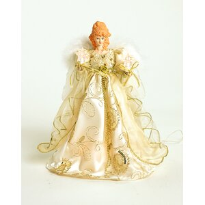 Table Top Ivory and Gold Angel Tree Topper