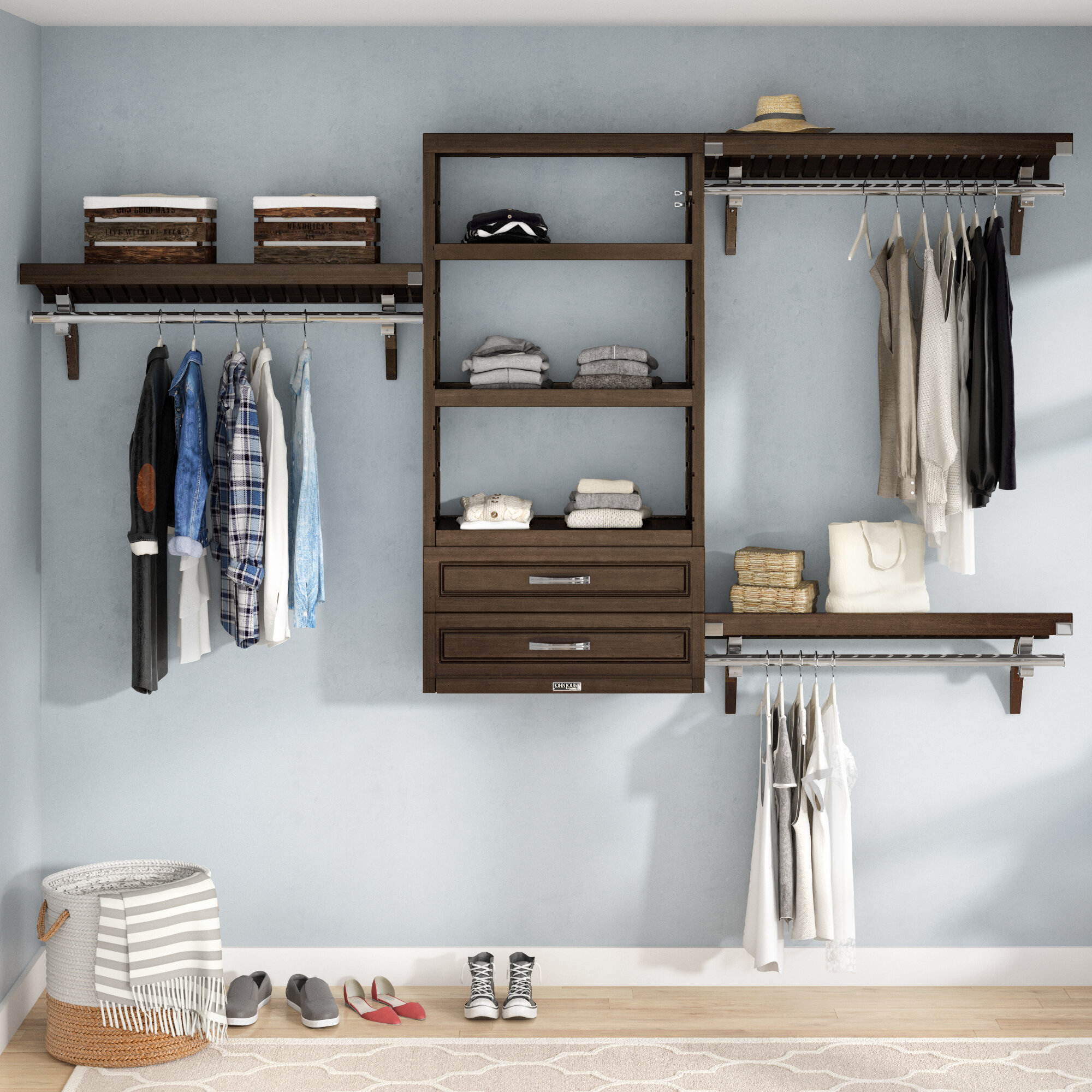 louis home accessory deep drawers accessories towers john with l and closet tower doors