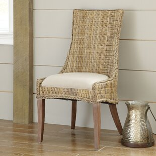 Caryville Wicker Upholstered Dining Chair Set Of 2