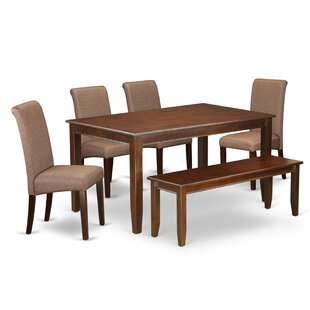 Caroyln Kitchen Table 6 Piece Solid Wood Dining Set
