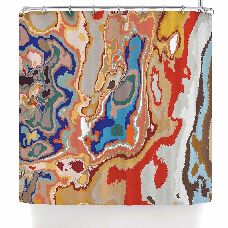 Empire Ruhl Colored Sand Digital Shower Curtain