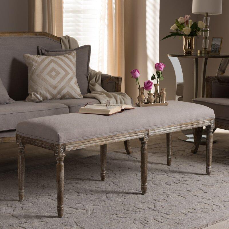 Varian Upholstered Storage Bedroom Bench Birchlane: Hadrien Wood Bench & Reviews