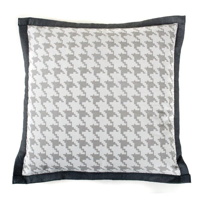 Jiti Houndstooth Cotton Throw Pillow | Wayfair