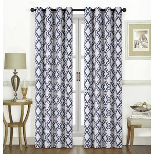 Kampsville Geometric Room Darkening Grommet Single Curtain Panel