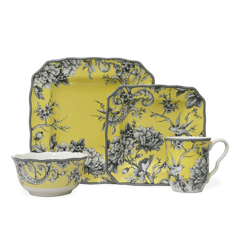 222 Fifth Adelaide 16 Piece Dinnerware Set Service For 4