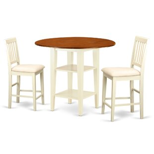 Tyshawn Counter Height 3 Piece Pub Table Set