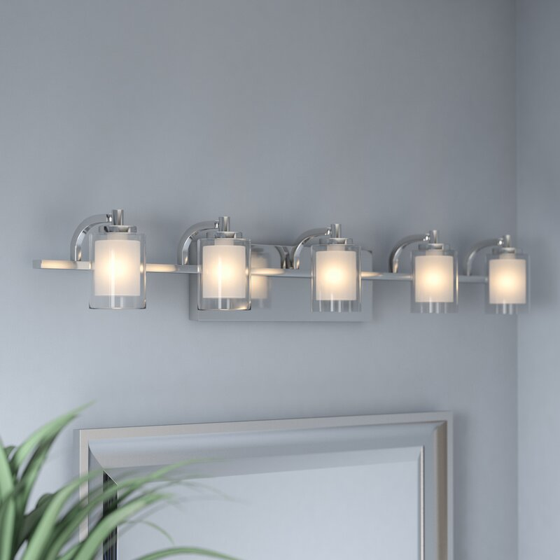 Bathroom Vanity Lights Austin Tx wade logan aldrich 5-light vanity light & reviews | wayfair