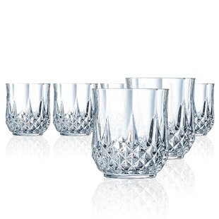 a88c965920df Lonchamp on the Rocks 10.75 oz. Crystal Drinking Glasses (Set of 6)