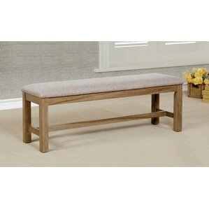 Absecon Transitional Wood/Metal Bench by August Grove