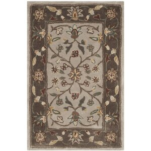 Regner Hand-Hooked Ivory/Taupe Area Rug