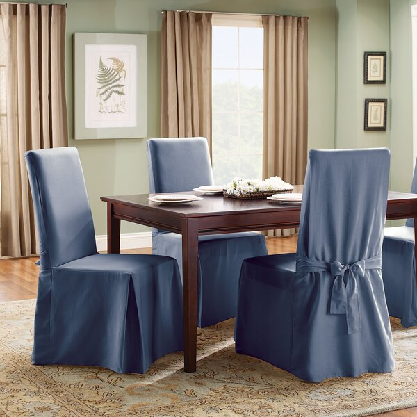 Sure Fit Cotton Duck Full Length Dining Room Chair Slipcover U0026 Reviews |  Wayfair