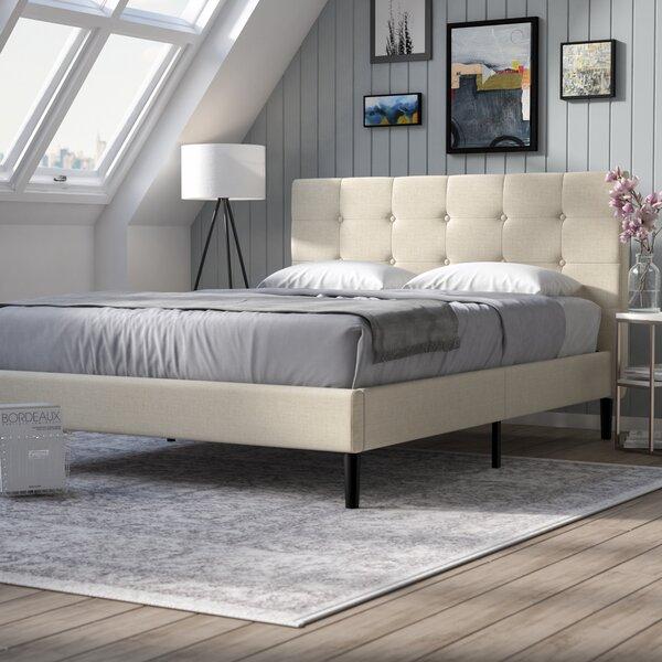 Upholstered Bedroom Sets Bedroom Window Bench Bedroom Hanging Cabinet Main Bedroom Colours Ideas: Leonard Upholstered Platform Bed & Reviews
